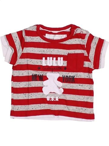 T-shirt manches courtes garçon LULU CASTAGNETTE rouge 3 mois été #1352226_1