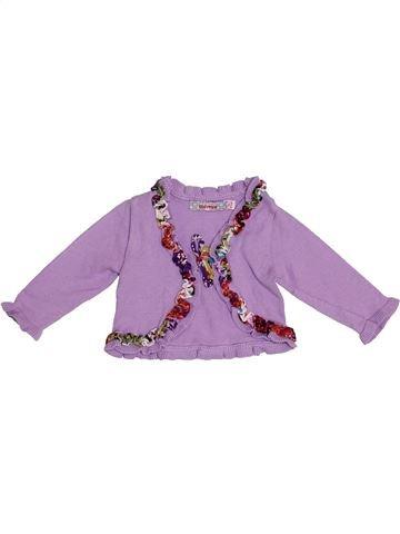 Gilet fille CLAYEUX violet 6 mois hiver #1352574_1