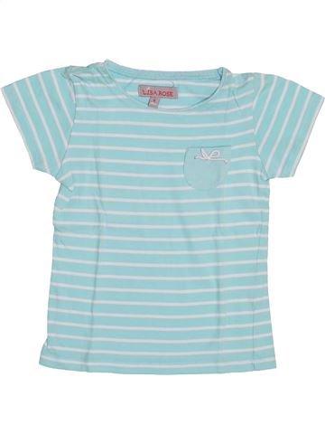 T-shirt manches courtes fille LISA ROSE gris 6 ans été #1352920_1