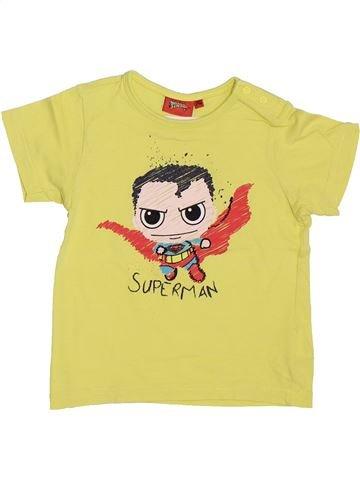T-shirt manches courtes garçon SUPERS HÉROS jaune 2 ans été #1353443_1