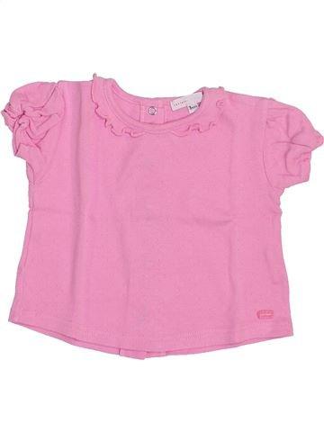 T-shirt manches courtes fille CONFETTI rose 3 mois été #1353581_1