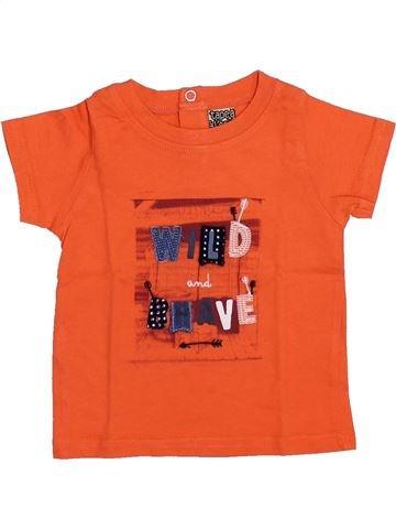 T-shirt manches courtes garçon TAPE À L'OEIL orange 6 mois été #1353831_1