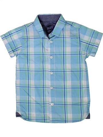 Chemise manches courtes garçon BLUEZOO bleu 4 ans été #1354395_1