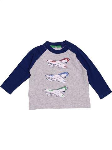 T-shirt manches longues garçon ZEEMAN blanc 12 mois hiver #1354472_1