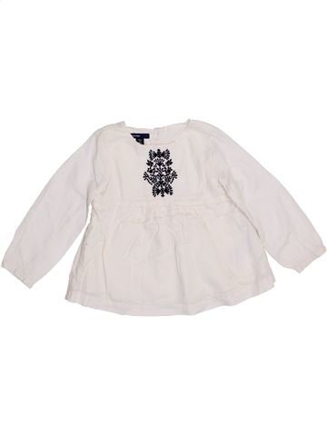 Blusa de manga larga niña GAP blanco 4 años invierno #1354553_1