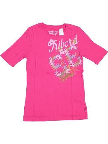 T-shirt manches courtes fille TRIBORD rose 12 ans été #1354650_1