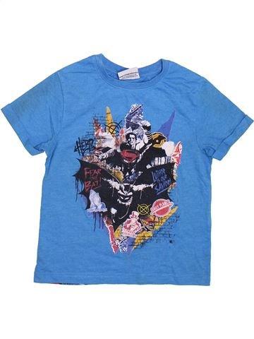 T-shirt manches courtes garçon SUPERS HÉROS bleu 5 ans été #1355476_1