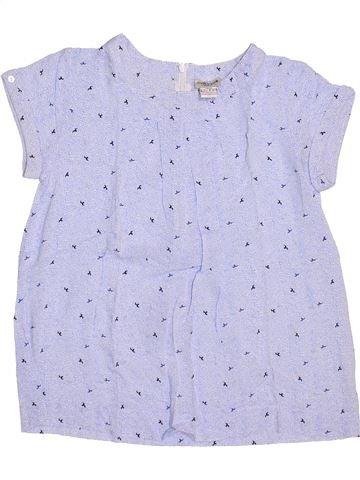 Blusa de manga corta niña CYRILLUS gris 12 años verano #1356120_1