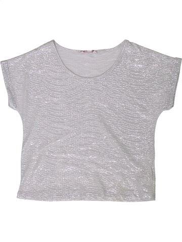T-shirt manches courtes fille MISS E-VIE gris 9 ans été #1356398_1