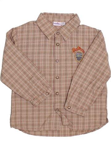 Camisa de manga larga niño AUBISOU marrón 2 años invierno #1356640_1