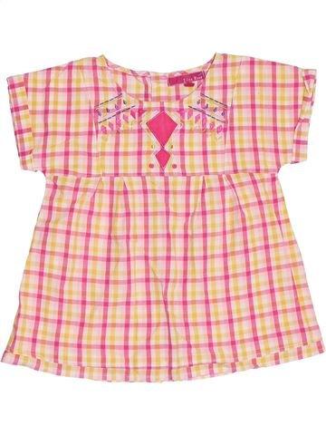 Blouse manches courtes fille LISA ROSE beige 8 ans été #1356801_1