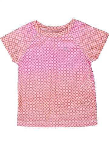 T-shirt manches courtes fille CARTER'S rose 2 ans été #1358138_1