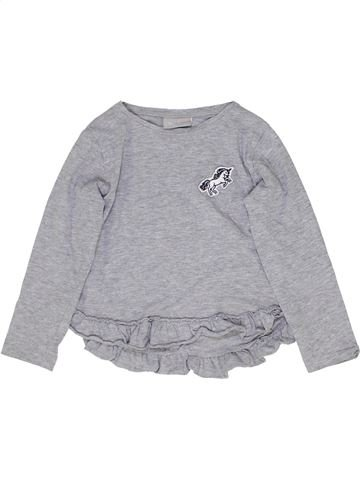 T-shirt manches longues fille I LOVE GIRLSWEAR gris 5 ans hiver #1358154_1