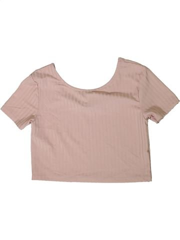 T-shirt manches courtes fille RIVER ISLAND rose 12 ans été #1359405_1