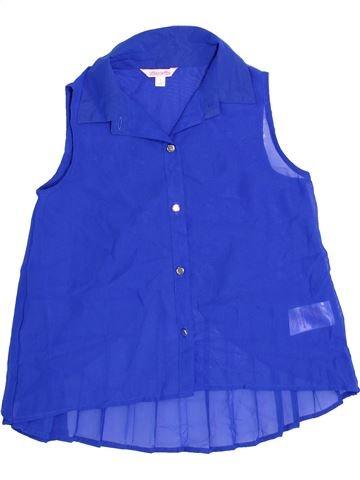 Blouse manches courtes fille MISS E-VIE bleu 9 ans été #1360013_1