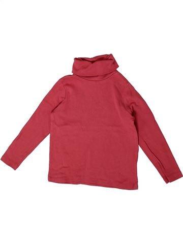 T-shirt col roulé fille LA REDOUTE CRÉATION orange 3 ans hiver #1360268_1