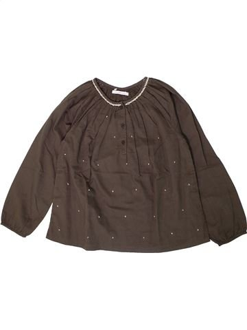 Blusa de manga larga niña MONOPRIX marrón 8 años invierno #1360736_1