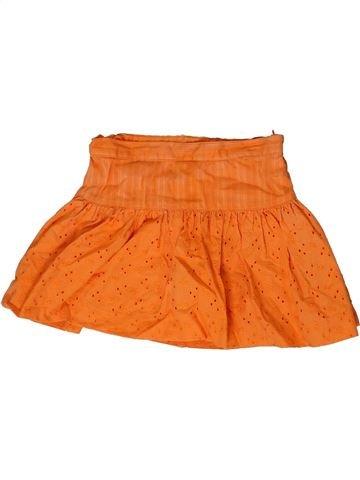 Jupe fille TOMMY HILFIGER orange 4 ans été #1361123_1