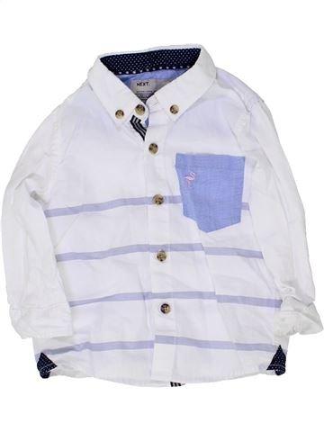 Chemise manches longues garçon NEXT blanc 12 mois hiver #1361379_1