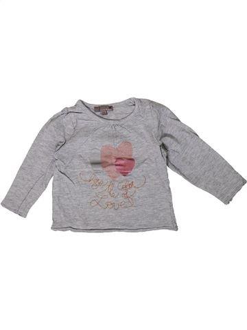 T-shirt manches longues fille LISA ROSE gris 2 ans hiver #1362000_1