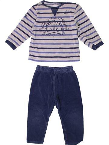 Pyjama 2 pièces garçon SUCRE D'ORGE blanc 2 ans hiver #1362229_1