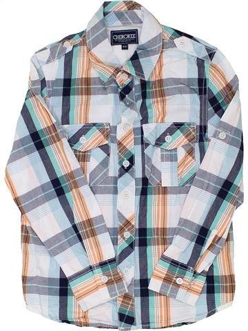 Chemise manches longues garçon CHEROKEE blanc 10 ans hiver #1362419_1