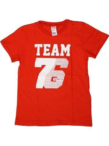T-shirt manches courtes garçon DÉCATHLON rouge 8 ans été #1362879_1