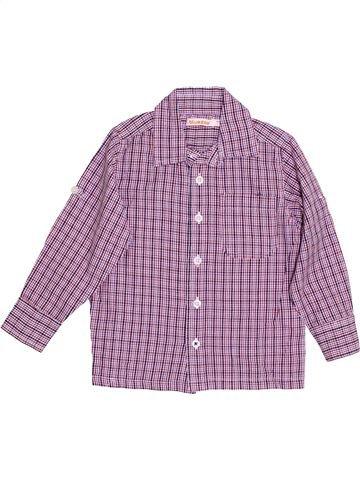 Chemise manches longues garçon BLUEZOO violet 4 ans hiver #1363334_1