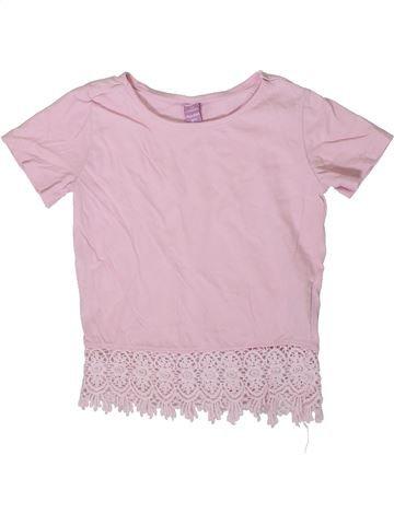T-shirt manches courtes fille DOPODOPO rose 6 ans été #1364634_1