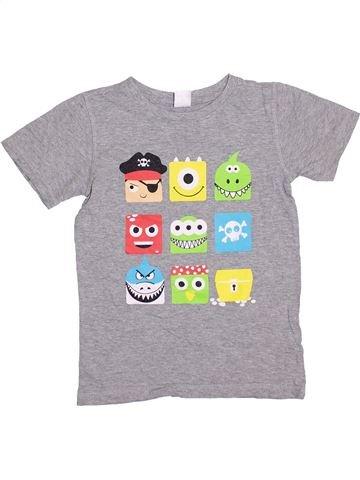 Camiseta de manga corta niño SANS MARQUE gris 12 años verano #1364698_1