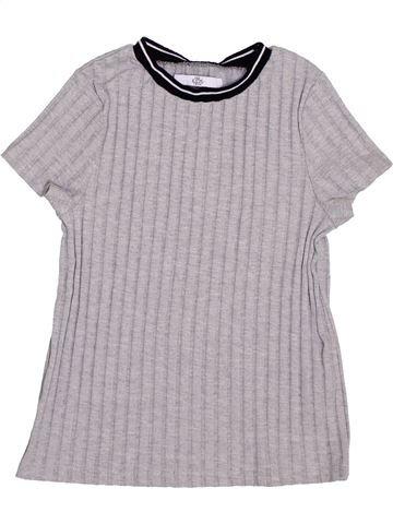 T-shirt manches courtes fille MARKS & SPENCER gris 8 ans été #1365077_1