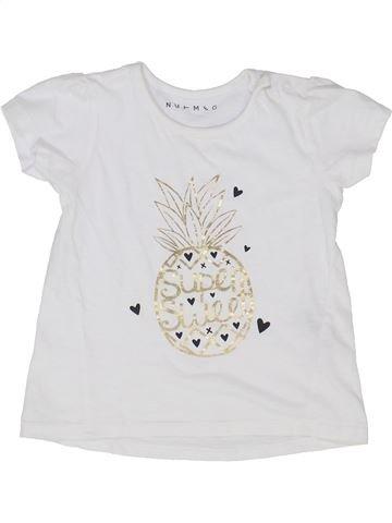 T-shirt manches courtes fille NUTMEG blanc 2 ans été #1365135_1