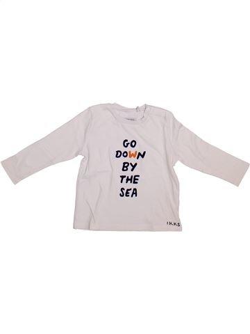 T-shirt manches longues garçon IKKS blanc 2 ans hiver #1365397_1