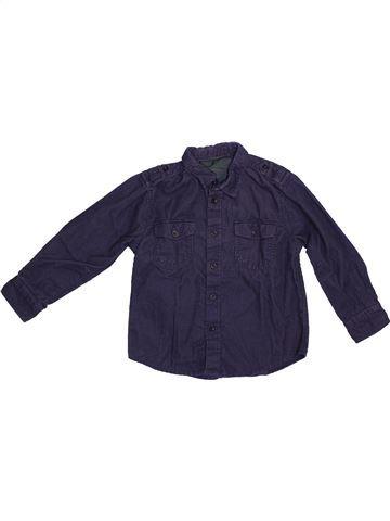 Chemise manches longues garçon CFK bleu 3 ans hiver #1365822_1