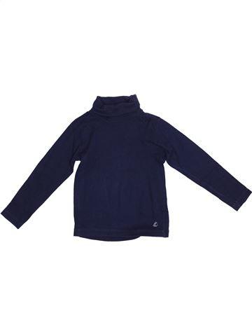 Camiseta de cuello alto niña PETIT BATEAU azul 5 años invierno #1365842_1