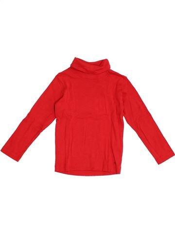 Camiseta de cuello alto niña PETIT BATEAU rojo 3 años invierno #1366379_1