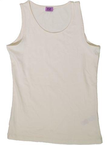 T-shirt sans manches fille F&F blanc 11 ans été #1366561_1