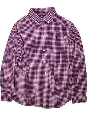 Chemise manches longues garçon RALPH LAUREN violet 16 ans hiver #1366570_1