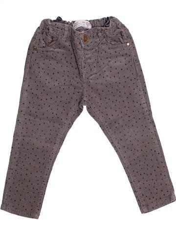 Pantalon fille ZARA GIRLS gris 2 ans hiver #1366606_1