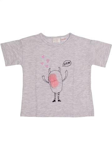 T-shirt manches courtes fille ZARA blanc 2 ans été #1366629_1