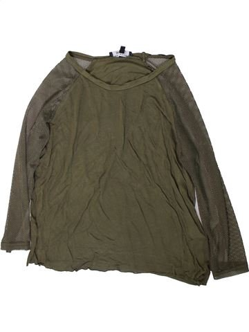 T-shirt manches longues fille NEW LOOK marron 13 ans hiver #1366635_1