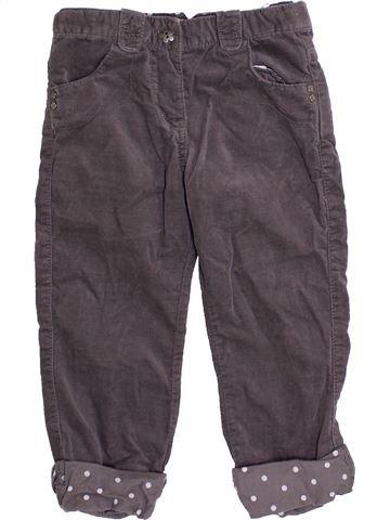 Pantalon fille VERTBAUDET marron 2 ans hiver #1366753_1