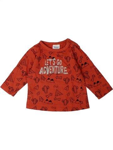 T-shirt manches longues garçon TAPE À L'OEIL rouge 6 mois hiver #1367567_1