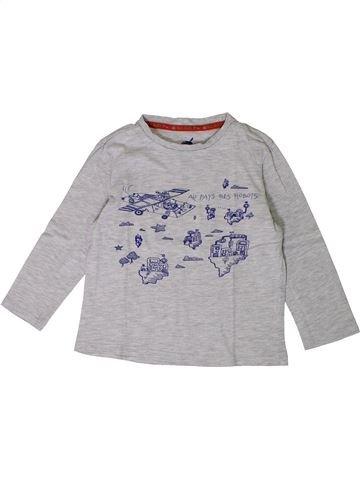 T-shirt manches longues garçon SERGENT MAJOR gris 4 ans hiver #1367760_1