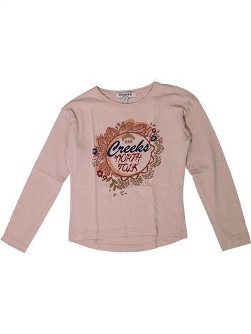 T-shirt manches longues fille CREEKS beige 8 ans hiver #1367763_1