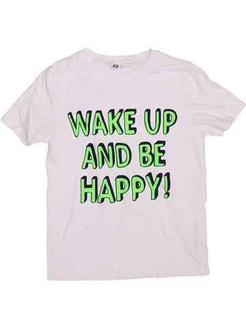 T-shirt manches courtes garçon H&M blanc 8 ans été #1367800_1