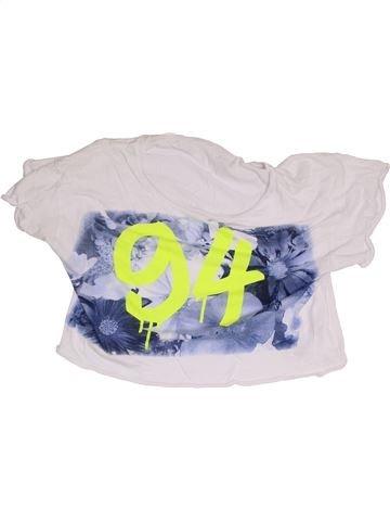 T-shirt manches courtes fille NEW LOOK blanc 15 ans été #1368383_1