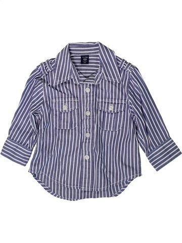 Chemise manches longues garçon GAP gris 12 mois hiver #1368720_1
