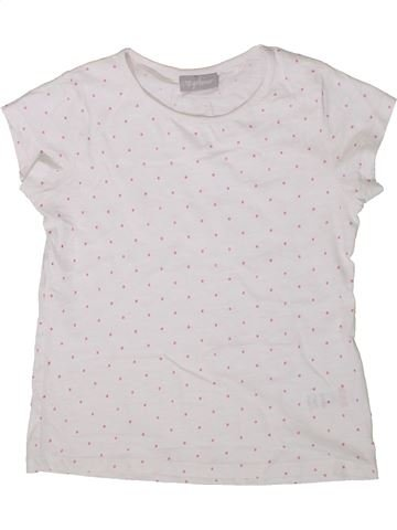 T-shirt manches courtes fille I LOVE GIRLSWEAR blanc 7 ans été #1368848_1