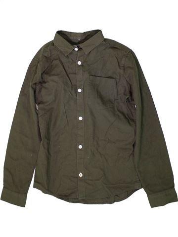 Chemise manches longues garçon RIVER ISLAND vert 10 ans hiver #1368955_1